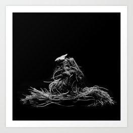 Lettuce root Art Print