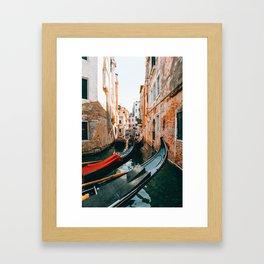 Venice - Canal Framed Art Print