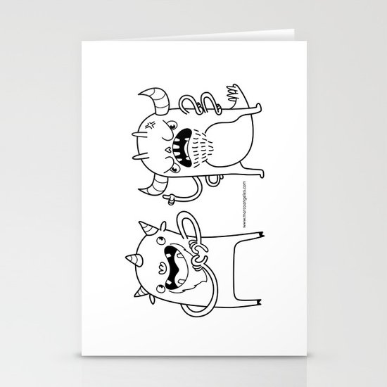 Monster Dialogues Stationery Cards