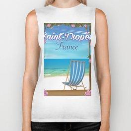 Saint-Tropez France Travel poster Biker Tank