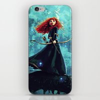 brave iPhone & iPod Skins featuring Brave by Juniper Vinetree
