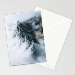 Moody Switzerland Mountain Peaks - Landscape Photography Stationery Cards