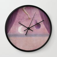 theater Wall Clocks featuring Night theater by Karine's Pictures
