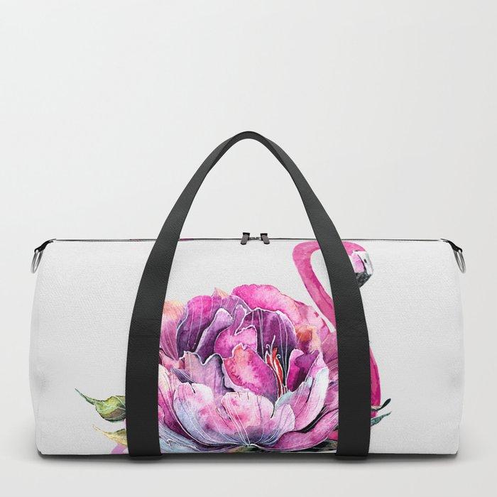 Flower Flamingo Duffle Bag