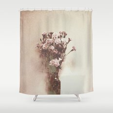 Abstract Vintage Flowers Shower Curtain