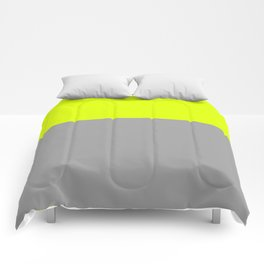chartreuse and gray Comforters