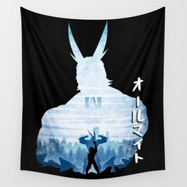 Minimalist Silhouette All Might Wall Tapestry