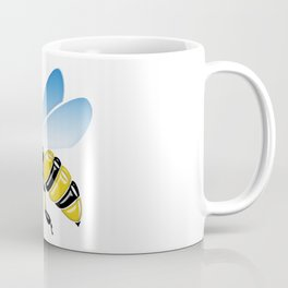 Three Dimensional 3D shiny Yellow and Black Bumble Bee Coffee Mug