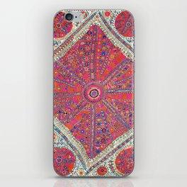 Large Medallion Suzani  Antique Uzbekistan Embroidery iPhone Skin
