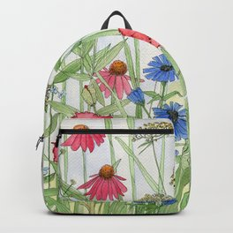 Watercolor of Garden Flower Medley Backpack