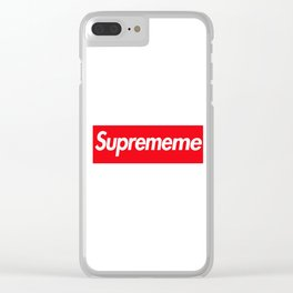 Suprememe Clear iPhone Case