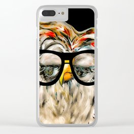 Hipster Owl Clear iPhone Case