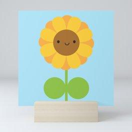 Kawaii Sunflower Mini Art Print