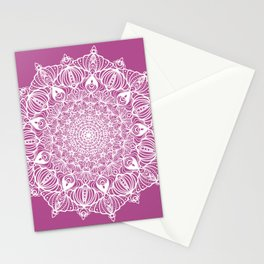 White lace Mandala III Stationery Cards