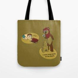 I Enjoy Long Ewoks on the Beach Tote Bag
