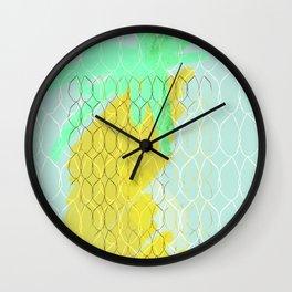 Pineapple pool Wall Clock