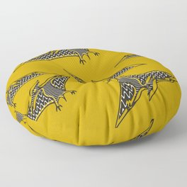 Pterosauria mustard Floor Pillow