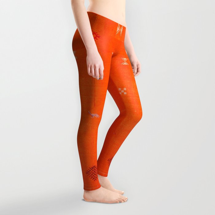 -A10- Traditional Anthropologie Moroccan orange Artwork. Leggings