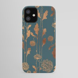 Art Deco Copper Flowers  iPhone Case