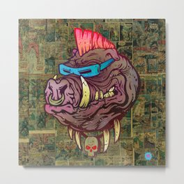 Mutant Hog Metal Print