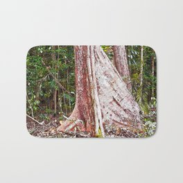 Buttress root in the rainforest Bath Mat