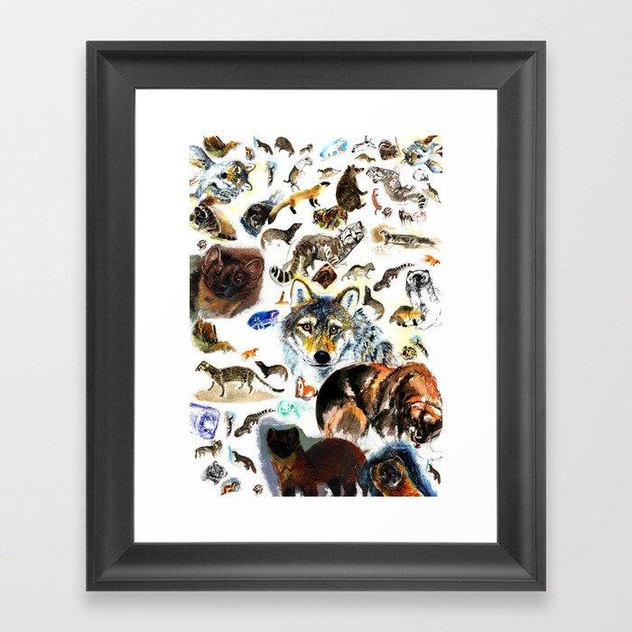 Animal collage  (c) 2017 Framed Art Print