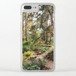 Hoh Rainforest Trail Clear iPhone Case