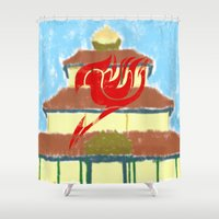 fairy tail Shower Curtains featuring Fairy Tail Segmented by JoshBeck