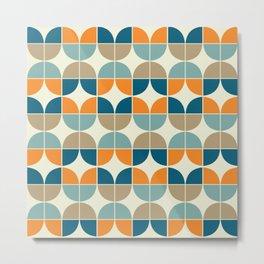 Mid Century Geometric 4 Metal Print