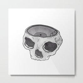 Skull Pool - Bowl for Brains  Metal Print