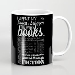 Folded Between the Pages of Books - Black Coffee Mug