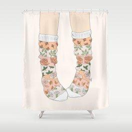 Spring Socks Shower Curtain