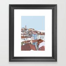 Lisbon cityscape - colours Framed Art Print