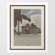 Winter Beach Art Print