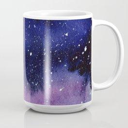 Watercolor Galaxy Nebula Pink Purple Sky Stars Coffee Mug