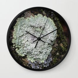 Lichen Woodlands Wall Clock