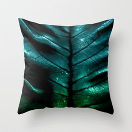 Dragon Spine (Blue Version) Throw Pillow