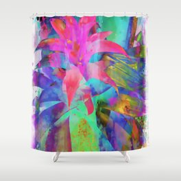 Exotic Pink, Abstract Flower, Floral Arrangement, Modern Art, Wall Art, Flowers Shower Curtain