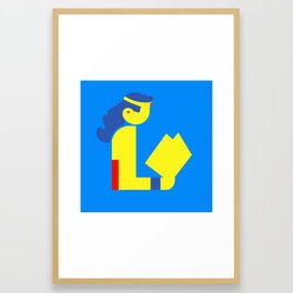 Wonder Lady Reading Framed Art Print