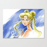 sailormoon Canvas Prints featuring Princess Serenity by Keith Gutierrez