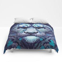 Snow Leopard Late Night Comforters
