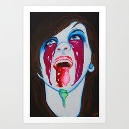 Clown Bukake Art Print