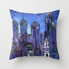 Starry Philadelphia Throw Pillow