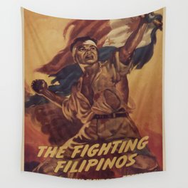 Vintage poster - The Fighting Filipinos Wall Tapestry
