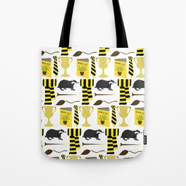 The House of Hufflepuff Pattern Tote Bag