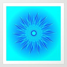 Colored blue pictograms. Art Print