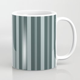 Blue Willow Green PPG1145-4 Thick & Thin Vertical Stripes on Night Watch Color of the Year PPG1145-7 Coffee Mug