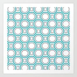Blue Harmony II Symmetry Art Print