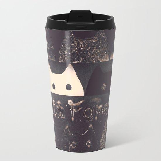 cats-60 Metal Travel Mug