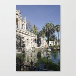 Royal Gardens Reflection - Alcazar of Seville Canvas Print